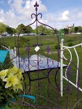 Painted Iron Trellis or Twin Size Headboard #1028-20 in Wilmington, North Carolina