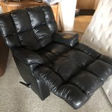 Black leather recliner in Providence, Rhode Island