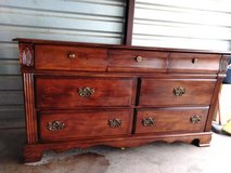 Solid wood dresser with mirror in great condition in El Paso, Texas