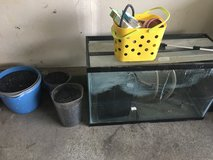 Fish tank with accessories in Temecula, California