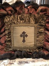 Gorgeous faux pillow with cross in Spring, Texas