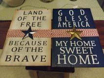 Solid Wood PATRIOTIC Home Decor WALL HANGINGS in Travis AFB, California