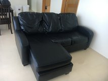 Black Leather Couch in Okinawa, Japan