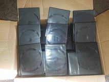 100 DVD (cd)  cases for only $10.. Used..not new in Morris, Illinois