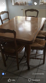 Oak Table and 6 chairs ****REDUCED**** in Baumholder, GE