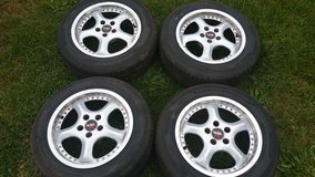 4x summer tires 195/60 R15 on alloy rims fit to VW Golf IV in Ramstein, Germany