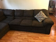 Brown sectional couch in Plainfield, Illinois