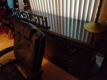 Executive Desk, Credenza and 2 chairs in Morris, Illinois