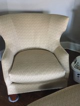 Chair with Ottoman - LIKE NEW Hickory White in Joliet, Illinois