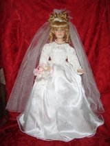 21 inch BRIDE DOLL Collector Choice Limited Edition By Donnatella De Roma Blonde Bisque Porcelai... in Joliet, Illinois