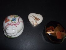 3 Porcelain Trinket Box Lot in Warner Robins, Georgia