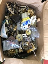 Box full of lamp hardware in Moody AFB, Georgia