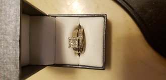 14k white gold 1ct diamond engagement ring with band size 7 in Lawton, Oklahoma
