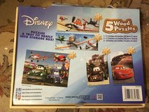 Disney Cars and planes 5 puzzle set in Westmont, Illinois