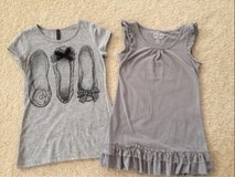 LIKE NEW Girls SIZE 7-8 Grey Summer Shirts in Plainfield, Illinois