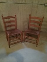 2 caned maple chairs in Aurora, Illinois
