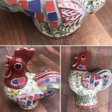 Ceramic Rooster in Kingwood, Texas