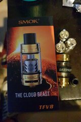 Gold Smok TFV8 cloud beast in Ramstein, Germany