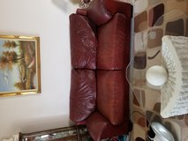 Leather couch and chair in Tacoma, Washington