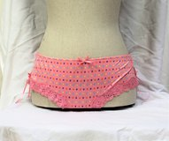 NWOT Donna L'Oren Gold Label Pink Lg Polka Dot Panties Hipster Boy Shorts Lace Underwear Bikini ... in Houston, Texas