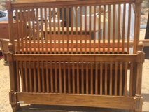 Queen bed frame + rails in Yucca Valley, California
