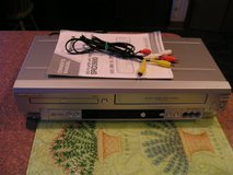 Sylvania VCR  VHS + DVD  MP3 Dolby Digital + Cables + Manual in Joliet, Illinois