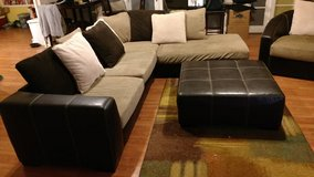 Leather Sectional Sofa - Three Piece Living Room Set in Buckley AFB, Colorado