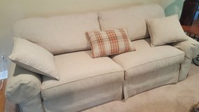 ETHAN ALLEN COUCH WITH PILLOWS in Plainfield, Illinois