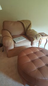 ETHAN ALLEN OVERSIZE CHAIR WITH OTTOMAN in Bolingbrook, Illinois