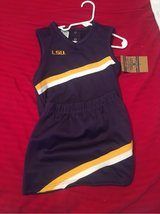 NWT LSU cheerleading skirt & top SZ 4T in Pleasant View, Tennessee