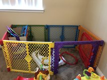 Colorful playpen in Oceanside, California
