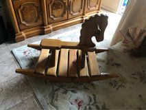 Solid wood rocking horse in Oceanside, California