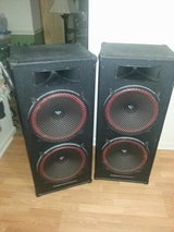 Pair of Cerwin Vega Hp 215 Tower Speakers in Cleveland, Texas