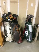 3 Sets of Expensive Golf Clubs with Covers in Vacaville, California