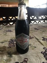 Centennial celebration glass coke bottle in Okinawa, Japan