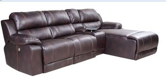 Johnny II Sectional - Left Seat Reclines - Chaise Reclines also on opposite side.- with delivery in Spangdahlem, Germany