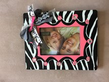Pink zebra picture frame in Ramstein, Germany