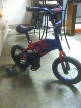 Kids Spider-Man Bike With Training Wheels in Kingwood, Texas