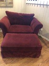 Over sized chair and ottoman in Naperville, Illinois