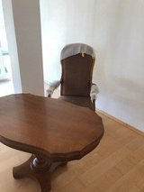 Wooden table with two armchairs in Grafenwoehr, GE