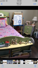 Twin size bed for a girl is an excellent condition in Travis AFB, California