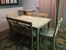 7 Piece dining room set and wine hutch in Yucca Valley, California