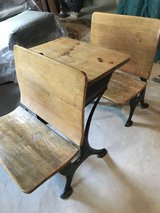 Antique school desk in Plainfield, Illinois