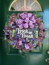 Trick Or Treat Mesh Wreath in Plainfield, Illinois