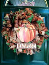 Harvest Mesh Wreath in Naperville, Illinois