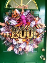 Boo Mesh Wreath in Naperville, Illinois