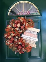 Fall Mesh Wreath in Naperville, Illinois