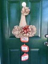 Fall Scarecrow Hat Door Hanger / Wreath in Naperville, Illinois