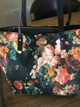 Bebe newer black purse with beautiful colorful flowers in Yucca Valley, California