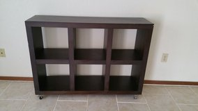 West Elm Console/Bookcase/Side Table on Casters in Alamogordo, New Mexico